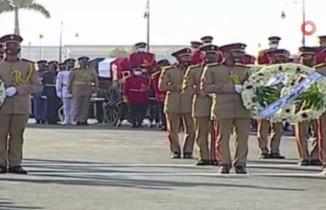 Mısır'ın eski Savunma Bakanı Mareşal Tantavi için askeri cenaze töreni