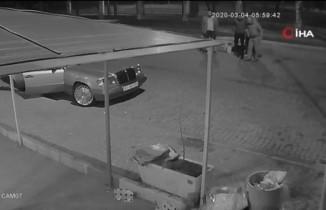 Organize suç örgütü üyelerinin silahlı saldırı eylemi kamerada