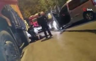 Polisin hırsızı yakaladığı anlar kamerada