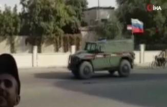 Rus askerinden Mümbiç'te devriye