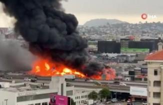 San Francisco'da korkutan yangın