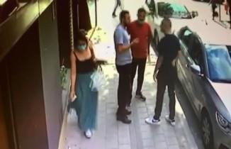Sancaktepe'de 3 kişi arasında çıkan kavga böyle görüntülendi