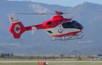 Septik şok geçiren hastaya helikopter ambulans ile sevk