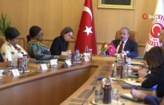 TBMM Başkanı Şentop, Gana Dışişleri ve Bölgesel Entegrasyon Bakanı Botchwey'i kabul etti