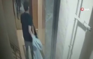 Televizyon hırsızı kamerada