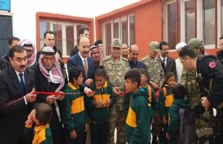 Teröristlerin zarar verdiği okul onarılarak eğitim-öğretime açıldı