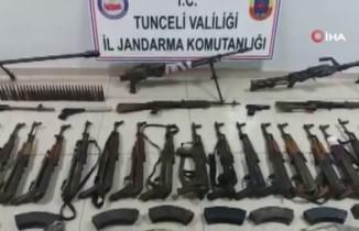 Tunceli'de teröristlere ait 8 sığınak imha edildi
