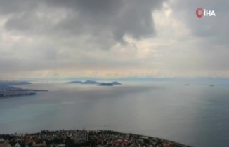 Yağmur bulutlarının eşsiz manzarası havadan görüntülendi