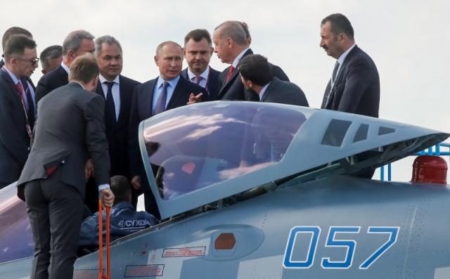 Erdoğan, günübirlik çalışma ziyareti için geldiği başkent Moskova'da, MAKS-2019 Uluslararası Havacılık ve Uzay Fuarı'nın açılış töreninde konuştu.