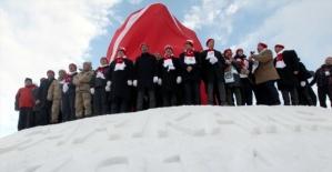Sarıkamış şehitleri anısına Kardan Heykeller Sergisi