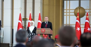 Cumhurbaşkanlığı Külliyesi'ndeki tarihi tören