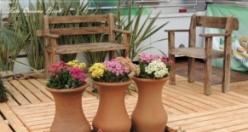 Bahçe dekorasyonu için yaratıcı dekorasyon fikirleri