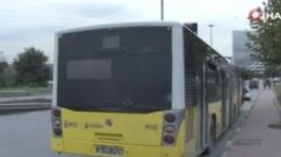 Bahçelievler'de İETT otobüsü yolda kaldı