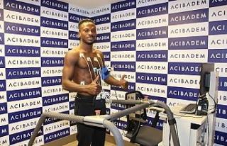 Sivasspor'un yeni transferi Kayode sağlık kontrolünden...