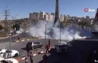 Batı Şeria'daki Gazze'ye destek gösterilerinde...