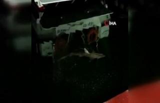 Haliç'te balıkçının oltasına köpek balığı...