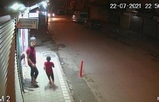 Motosikletli magandalar kadın ve çocukları korkuttu
