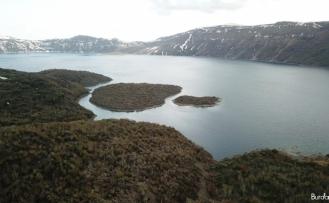 Nemrut Krater Gölü kısıtlamada sakinliğe büründü