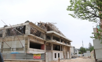 Otel inşaatında çökme