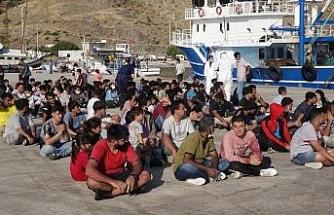 Çanakkale'de balıkçı teknesine operasyon: 231 düzensiz göçmen yakalandı