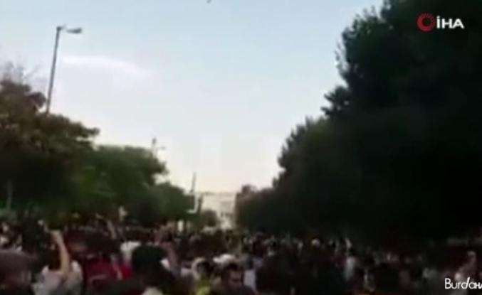 İran Türklerinden su krizi protestolarına destek gösterisi