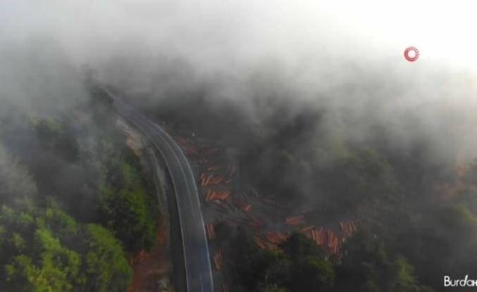 Kazdağları'nda bulut şelalesi