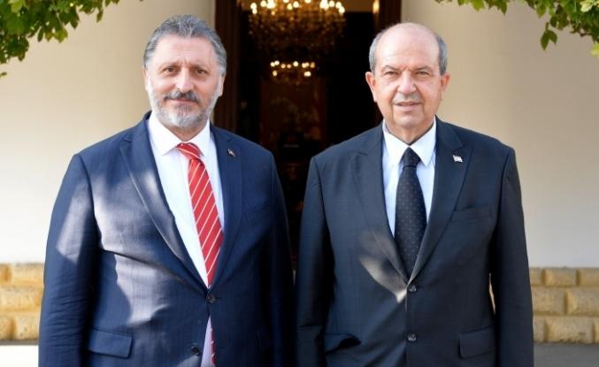 """KKTC Cumhurbaşkanı Tatar: """"Anavatan Türkiye ile bağlarımızın koparılmasına müsaade etmeyiz"""""""