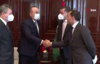 Bakan Çavuşoğlu, Libya Başbakanı Dibeybe ile görüştü